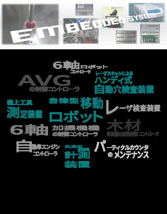 開発してきた製品たち『EMBEDDED SYSTEM』