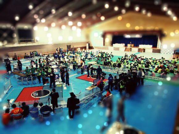 ロボット相撲中国大会会場の雰囲気