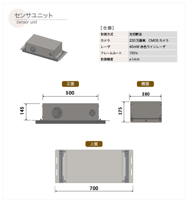 ログスキャナ【外形寸法図】(2.センサユニット)