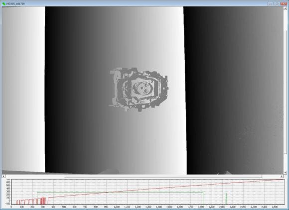 【参考】シリンダブロックを空間コード化した画像