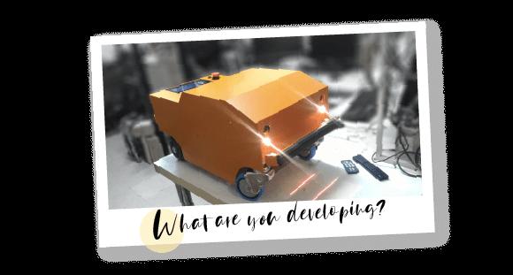 溶接部追従ロボット ポラロイドイメージ(What are you developing?)