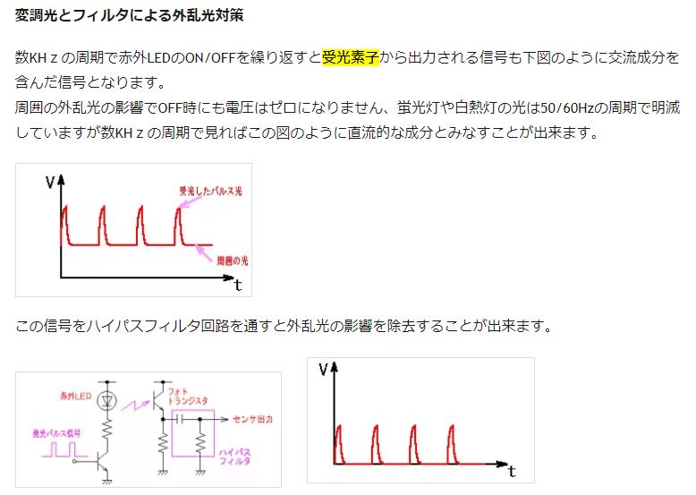JSD代表・麥田の電子工学系ブログへのリンク【変調光とフィルタによる外乱光対策】