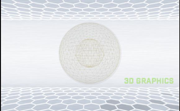 3Dグラフィックイメージ