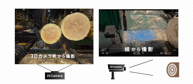 【径級計測システム】現場写真(カメラ側から撮影、横から撮影)