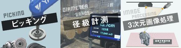 ピッキング装置、丸太の径級計測システム、高精度3次元画像処理(空間コード法×位相シフト法)