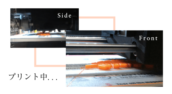 プリント中の写真(Side、Front)